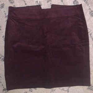 Corduroy deep violet mini skirt